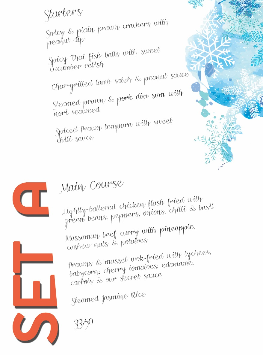 Christmas Set Menu A