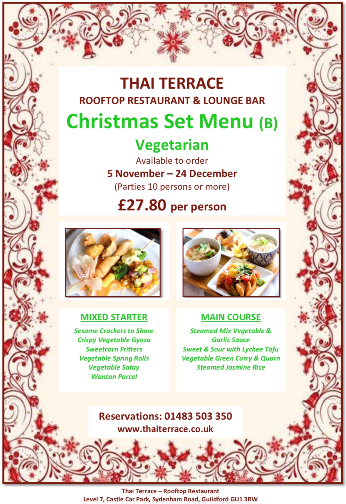 Christmas Set Menu B