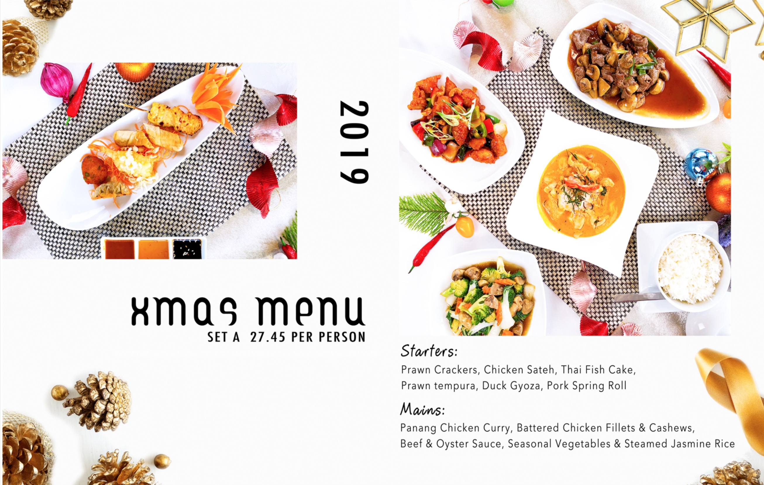 Thai Christmas Menu 2019